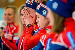 February 22, 2019 - Seefeld In Tirol, AUSTRIA - 190222 Astrid Uhrenholdt Jacobsen of Norway reacts at a press event during the FIS Nordic World Ski Championships on February 22, 2019 in Seefeld in Tirol..Photo: Vegard Wivestad GrÂ¿tt / BILDBYRN / kod VG / 170287 (Credit Image: © Vegard Wivestad Gr¯Tt/Bildbyran via ZUMA Press)