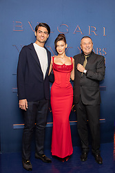 * NO WEB * NO DAILY DAYS * Rome, the Bulgari party for the 20th anniversary In the picture: Matteo Bocelli, Bella Hadid, Jean-Christophe Babin arriving for the Bulgari XX 20th anniversary party in Rome