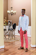 Stylemaker B.J. Byars, 22, a junior at University of Louisville majoring in Physical Education and part-time substitute teacher in the Jefferson County School System, is seen at his home in Crestwood, Ky. Sept. 29, 2016