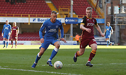 Joe Ward of Peterborough United in action with Lewis O'Brien of Bradford City - Mandatory by-line: Joe Dent/JMP - 09/03/2019 - FOOTBALL - Northern Commercials Stadium - Bradford, England - Bradford City v Peterborough United - Sky Bet League One