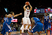 DALLAS, TX - FEBRUARY 01: Nic Moore #11 of the SMU Mustangs shoots the ball against the Memphis Tigers on February 1, 2014 at Moody Coliseum in Dallas, Texas.  (Photo by Cooper Neill/Getty Images) *** Local Caption *** Nic Moore