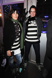 Left to right, BELLA FREUD and TRISH SIMONON at Skate presented by Tiffany & Co at Somerset House, London on 22nd November 2010.