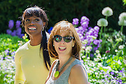 M&G invites a group of celebrity chefs, including Lorraine Pascale (black), onto its garden. The Chelsea Flower Show 2014. The Royal Hospital, Chelsea, London, UK