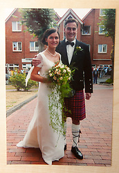 Pic of David and his wife Dunja McAllister on their wedding day in August 2003, wearing a kilt..COLLECT PICS from the half-Scottish Prime Minister David McAllister of Lower Saxony..©Michael Schofield.
