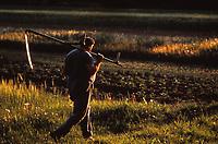 French farm worker w sickle