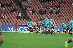 South Africa - Johannesburg, Emirates Airlines Park. 24/08/18  Currie Cup. Lions vs Griquas. Sylvian Mahuza gets his shirt tugged by Griquas. <br /> 2nd half.  Picture: Karen Sandison/African News Agency(ANA)
