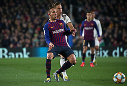 February 6, 2019 - Barcelona, Spain - Arthur Melo and Llorente during the match between FC Barcelona and Real Madrid corresponding to the first leg of the 1/2 final of the spanish cup, played at the Camp Nou Stadium, on 06th February 2019, in Barcelona, Spain. (Credit Image: © Joan Valls/NurPhoto via ZUMA Press)