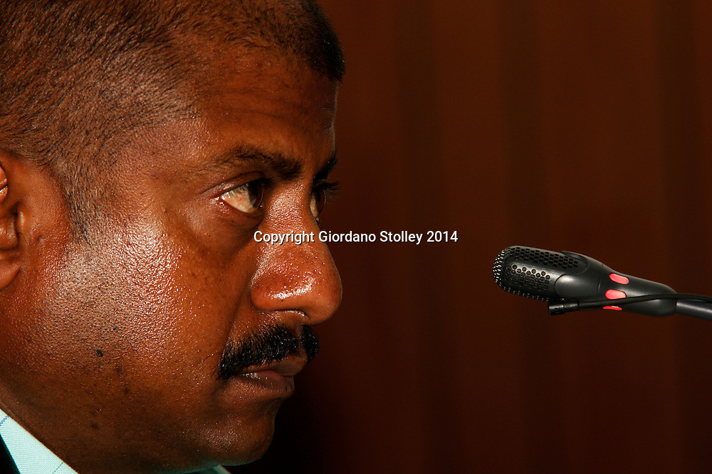 DURBAN - 24 July 2014 - Ronnie Pillay, a site foreman for Gralio Precast (Pty) Ltd answers questions at a Department of Labour commission of inquiry established to probe the events that led to a Tongaat Mall collapsing, killing two people and injuring 29 on November 19, 2013. Pillay was working on the construction site on the day it collapsed. Picture: Allied Picture Press/APP