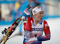 Skiskyting<br /> VM 2015<br /> Kontiolahti - Finland<br /> 05.03.2015<br /> Foto: Gepa/Digitalsport<br /> NORWAY ONLY<br /> <br /> Mix-stafett<br /> IBU World Championships, relay 2x6km ladies and 2x7.5km men, mixed team. Image shows Fanny Welle-Strand Horn (NOR).
