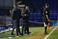 Football - 2020 / 2021 Sky Bet League One - Portsmouth vs. Sunderland - Fratton Park<br /> <br /> Sunderland Head Coach Lee Johnson clenches his fists in celebration as his defence keep a clean sheet at Fratton Park <br /> <br /> COLORSPORT/SHAUN BOGGUST