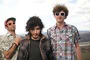 George, WA. - May 27th, 2012 Reignwolf poses for a portrait backstage at the Sasquatch Music Festival in George, WA. United States