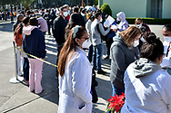 MEXICO CITY, MEXICO - DECEMBER 30: Persons waiting do vaccinated against Covid for health workers at tents installed for the  vaccination campaign of Covid-19 inside Military Camp 1A on December 30, 2020 in Mexico City, Mexico (Photo by Carlos Tischler / Eyepix Group/Speed Media)