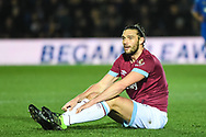 West Ham United forward Andy Carroll (9) looks dejected during the The FA Cup fourth round match between AFC Wimbledon and West Ham United at the Cherry Red Records Stadium, Kingston, England on 26 January 2019.