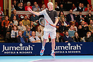 John McEnroe during the Champions Tennis match at the Royal Albert Hall, London, United Kingdom on 6 December 2018. Picture by Ian Stephen.