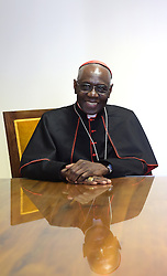 Cardinal Robert Sarah of Guinea in his office at the Vatican on November 9, 2015. He is the prefect of the Congregation for Divine Worship and the Discipline of the Sacraments. Highest authority on liturgical matters in the Church he recently appealed to the priests to face East during their liturgical celebrations.He is the author of the books God Or Nothing: A Conversation On Faith and La Force Du Silence (in French). The cardinal from a remote African village has become a standard bearer for Catholic orthodoxy and has emerged as a serious papabile. Photo by Eric Vandeville/ABACAPRESS.COM