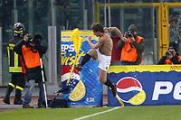 Roma 8/2/2004 Roma Juventus 4-0<br />Antonio Cassano (Roma) celebrates goal of 4-0 for Roma<br />Antonio Cassano festeggia il 4-0 per la Roma<br />Photo Andrea Staccioli Graffiti