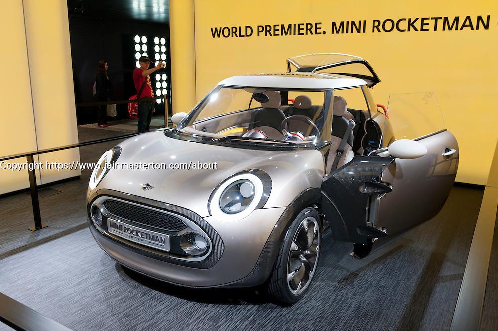 New Mini Rocketman concept car at Geneva Motor Show 2011 Switzerland