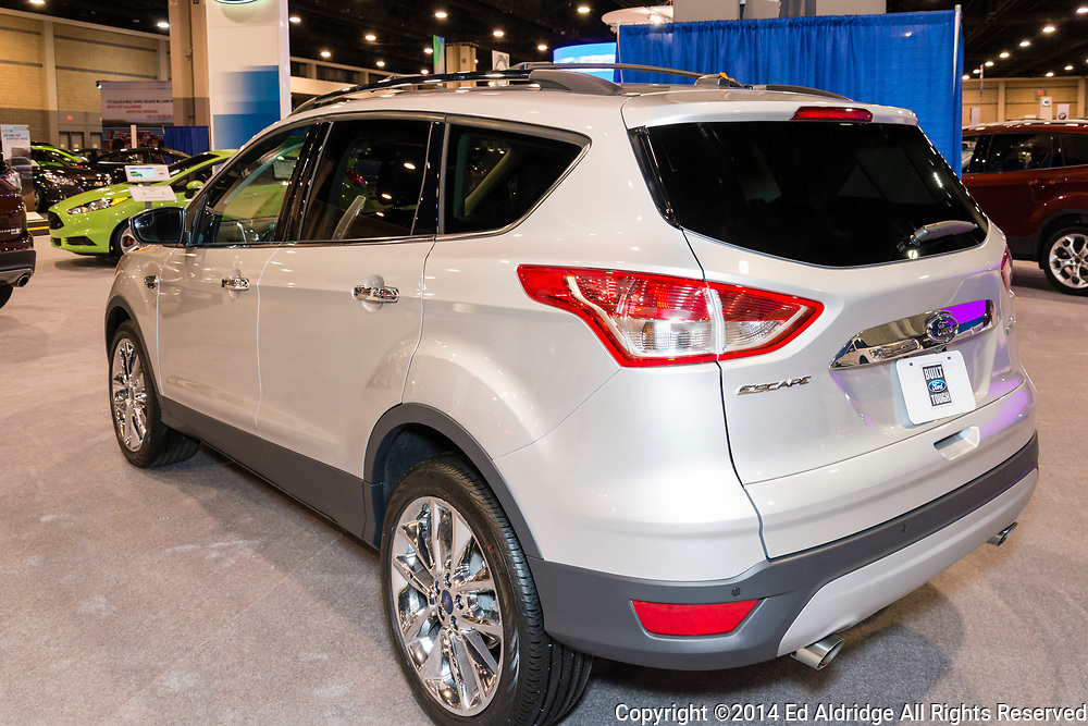 CHARLOTTE, NORTH CAROLINA - NOVEMBER 20, 2014: Ford Escape on display during the 2014 Charlotte International Auto Show at the Charlotte Convention Center.