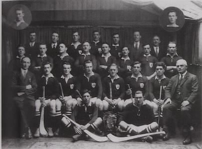 Cork-All-Ireland Hurling Champions 1926. Inserts: J Coughlan, Pk Aherne. Back Row: M Dorney, M Leahy, M Aherne, M Murphy, E O'Connell, P J O'Keeffe (Sec Co Board), T Long. Middle Row: W Higgins, J Kearney, M Murphy, J Kennedy, M O'Connell, B Mullins, M Scannell, M Murphy. Seated: S McCarthy (Chairman Co Board), E O'Donnell, J O'Regan, J Hurley, S Og Murphy ( capt), E Coughlan, P Delea, E Fitzgerald. Front: D B Murphy, J Egan.
