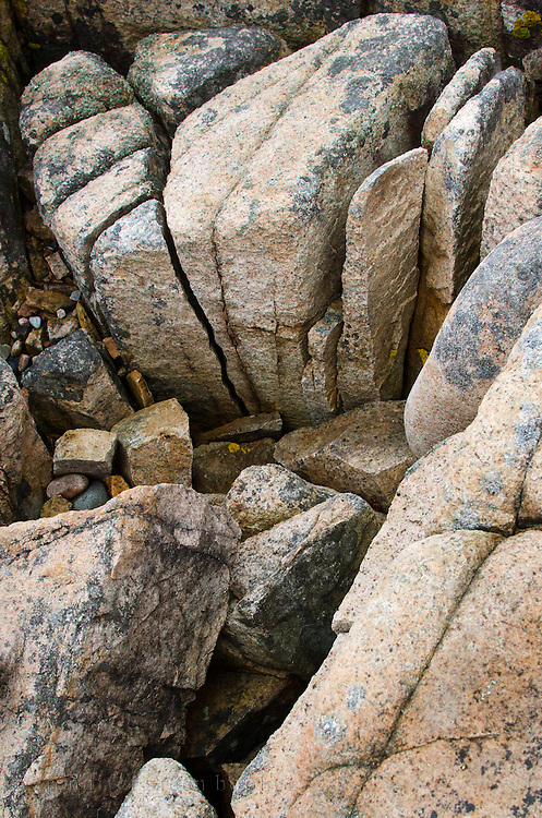 The pink granite coast of Mount Desert Island, Maine, carved by glaciers long ago.