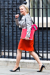 London, October 17 2017. Chief Secretary to the Treasury Liz Truss leaves the UK cabinet meeting at Downing Street. © Paul Davey
