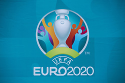 Euro 2020 branding outside King's Cross Station, where the Henri Delaunay Cup made a special visit to London today as part of the UEFA EURO 2020 Trophy Tour. Issue date: Friday June 4, 2021.