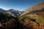 A view of the hamlet of Lebeña, near Potes in the south-eastern side of the Picos de Europa, northern Spain