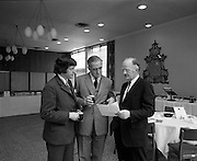 Launch Of Wexford Opera Festival.  (G84)..1974..23.05.1974..05.23.1974..23rd May 1974..Details of the Guinness sponsored Wexford Opera Festival were announced today.Mr Thomson Smillie,in his first year as artistic director,made the announcement at a luncheon held at the Guinness Visitor Centre,St James's Gate, Dublin..Pictured having a quiet drink at the launch of the Wexford Opera Festival were,(L-R),Mr Thomson Smillie,Artistic Director, Mr Tom Sheppard,Assistant Managing Director, Guinness Ltd, and Mr Sean Scallan,Chairman of the festival.