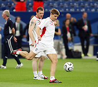 Photo: Chris Ratcliffe.<br />England Training Session. FIFA World Cup 2006. 30/06/2006.<br />Steven Gerrard in training.