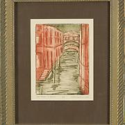 "Title: Last Night in Venice<br /> Artist: Greta Gardner<br /> Date: 2000<br /> Medium: Intaglio<br /> Dimensions: 14 x 16""<br /> Instructor: Ward Walker<br /> Status: On Display<br /> Location: Cypress Creek Campus Commons, Building 1000"