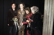 "TIM BURTON, SAM ARCHER, HELENA BONHAM-CARTER AND HER MOTHER  Elene Proper De Callejon . World Premiere of the theatrical production of ""Edward Scissorhands"" at Sadler's Wells Theatre in London. 30 November 2005. ONE TIME USE ONLY - DO NOT ARCHIVE  © Copyright Photograph by Dafydd Jones 66 Stockwell Park Rd. London SW9 0DA Tel 020 7733 0108 www.dafjones.com"