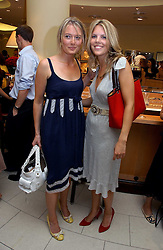 Left to right, VICTORIA HARGREAVES and The HON.VIRGINIA FRASER daughter of Lord Strathalmond at a party hosted by Links at their store in Sloane Square, London to celebrate the forthcoming Glorious Goodwood Racing festival held on 26th July 2006.<br />