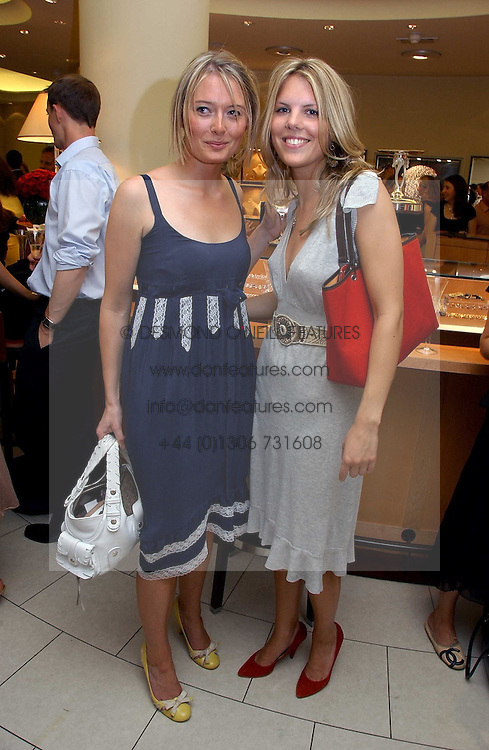 Left to right, VICTORIA HARGREAVES and The HON.VIRGINIA FRASER daughter of Lord Strathalmond at a party hosted by Links at their store in Sloane Square, London to celebrate the forthcoming Glorious Goodwood Racing festival held on 26th July 2006.<br /><br />NON EXCLUSIVE - WORLD RIGHTS