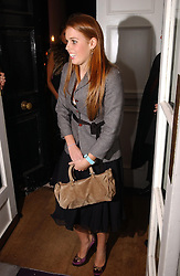 PRINCESS BEATRICE OF YORK at a party hosted by jeweller Theo Fennell and Dominique Heriard Dubreuil of Remy Martin fine Champagne Cognac entitles 'Hot Ice' held at 35 Belgrave Square, London, W1 on 26th October 2004.<br /><br />NON EXCLUSIVE - WORLD RIGHTS