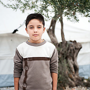 Hammam 10 years old from Iraq in Kara Tepe camp in Lesvos, Greece