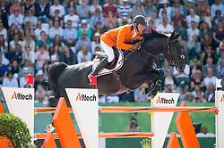 Jeroen Dubbeldam, (NED), Cortes C - Show Jumping Final Four - Alltech FEI World Equestrian Games™ 2014 - Normandy, France.<br /> © Hippo Foto Team - Jon Stroud<br /> 07/09/2014