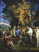 Entry of St Bernard in the city of Dijon. Guiseppe Passeri (1610-1679) Italian artist.