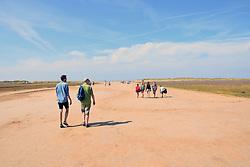 Holkham Bay beach, North Norfolk, UK August 2018