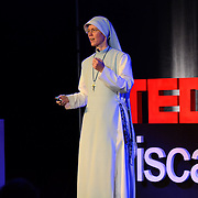 Sister Mary Agnes Dombroski speaks at TEDx PiscataquaRiver at 3S Artspace in Portsmouth, NH on May 3, 2013