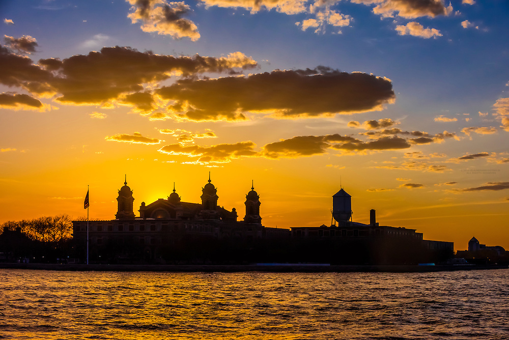 Ellis Island, New York Harbor, New York, New York USA.
