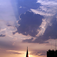 Istanbul, Turkey 06 July 2005<br /> View of a mosque during a sunset.<br /> Photo: Ezequiel Scagnetti