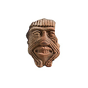 Terracotta mask of Humbaba the Assyrian guardian of the Cedar Forest 2nd millennium BCE