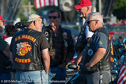 """21st Annual POW/MIA Freedom Ride, """"THE RIDE TO THE ROCK"""" and the 26th  Anniversary of the Vigil in Meredith, NH in honor of POW/MIAs and families during Laconia Motorcycle Week. NH, USA. June 19, 2014.  Photography ©2014 Michael Lichter."""