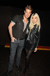 DUNCAN JAMES and WAFAH DUFOUR Osama bin Laden's niece at the annual Serpentine Gallery Summer Party in Kensington Gardens, London on 9th September 2008.