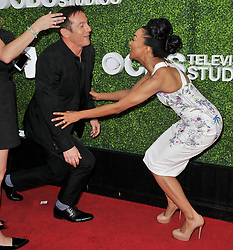 (L-R) Jason Isaacs and Sonequa Martin-Green together at the 2017 CBS Television Studios Summer Soiree TCA Party held at the CBS Studio Center – New York Street in Studio City, CA on Tuesday, August 1, 2017. (Photo By Sthanlee B. Mirador) *** Please Use Credit from Credit Field ***