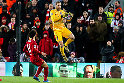 Jan Oblak of Atletico Madrid catches the ball - Mandatory by-line: Robbie Stephenson/JMP - 11/03/2020 - FOOTBALL - Anfield - Liverpool, England - Liverpool v Atletico Madrid - UEFA Champions League Round of 16, 2nd Leg