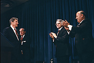 Washington, DC 1985/02/25   President Ronald Reagan  meets  with the Grace Commission<br /><br /><br />Photo by Dennis Brack