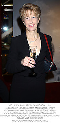 MD of WH Smith BEVERLEY HODSON,  at a reception in London on 18th March 2003.PIC 9