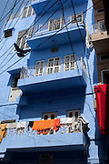 Clothes drying on a balcony in Jodhpur, Rajasthan, India