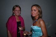 Georgina Le Hardin and Sarah Foley. White Knights Ball, Grosvenor House Hotel 7 January 2005. ONE TIME USE ONLY - DO NOT ARCHIVE  © Copyright Photograph by Dafydd Jones 66 Stockwell Park Rd. London SW9 0DA Tel 020 7733 0108 www.dafjones.com